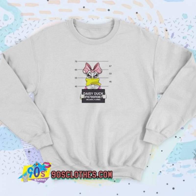 Disney Daisy Duck Mugshot Unisex Sweatshirt