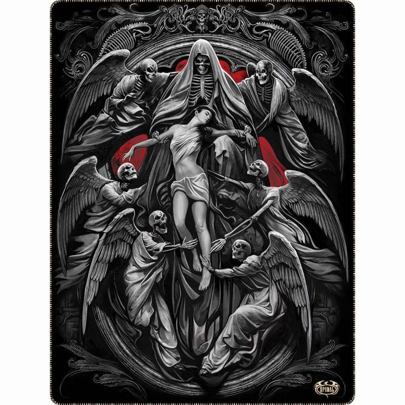 REAPER'S DOOR - Fleece Blanket with Double Sided Print