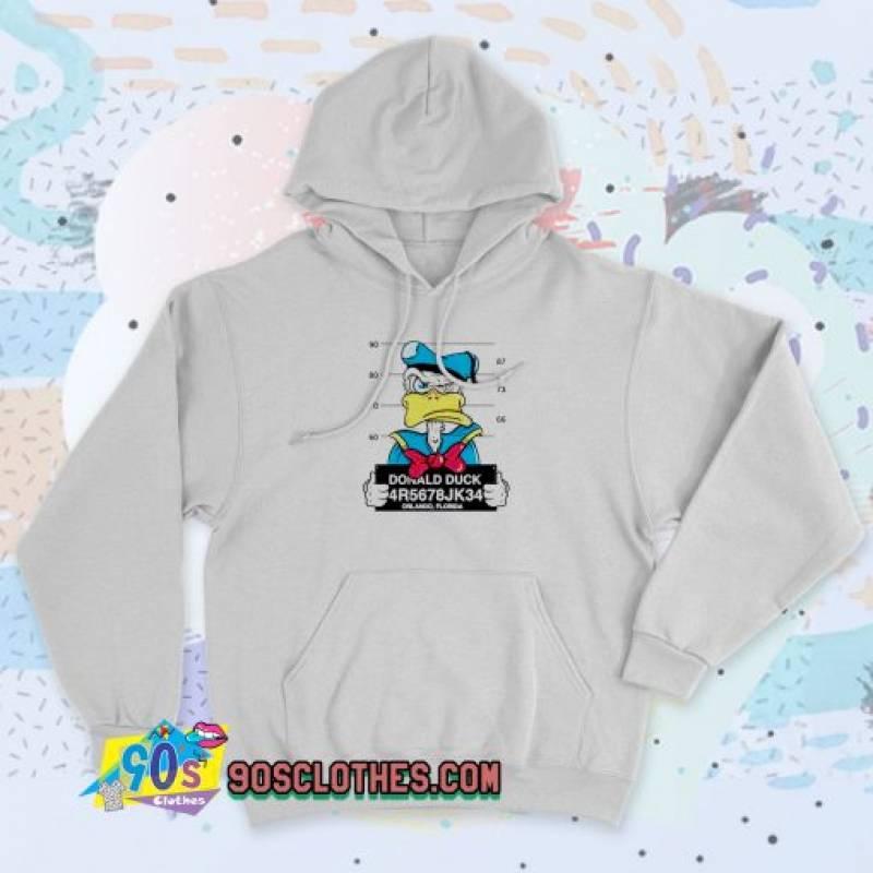 Disney Donald Duck Mugshot 90s Hoodie