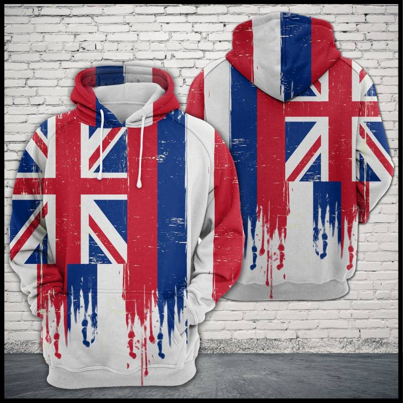 Artsyhomes [Hawaii Shirt] Awesome Hawaii Flag T1905 - All Over Print Unisex Hoodie