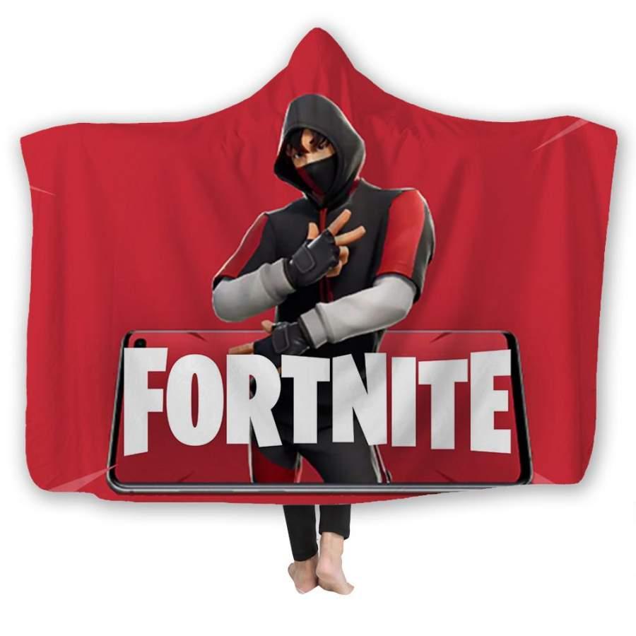 2019 Fortnite Hooded Blanket Fortnite Ikonic New Version 3D Print Super Soft Sherpa Fleece Blanket