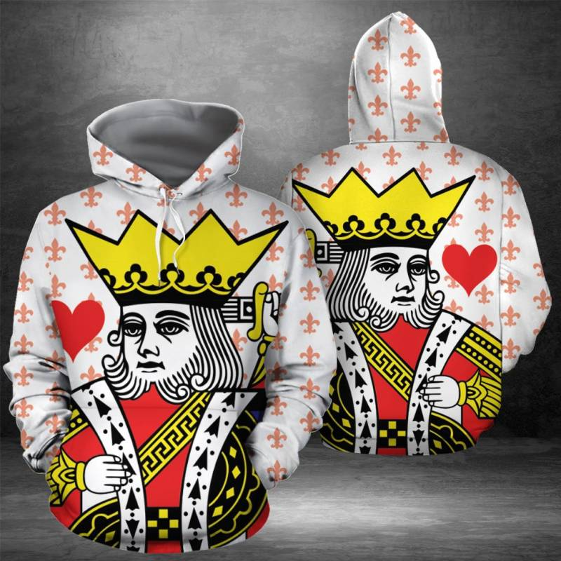 King Of Heart H16901 - All Over Print Unisex Hoodie