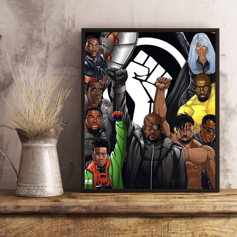 Avenger Black Lives Matter Poster & Canvas