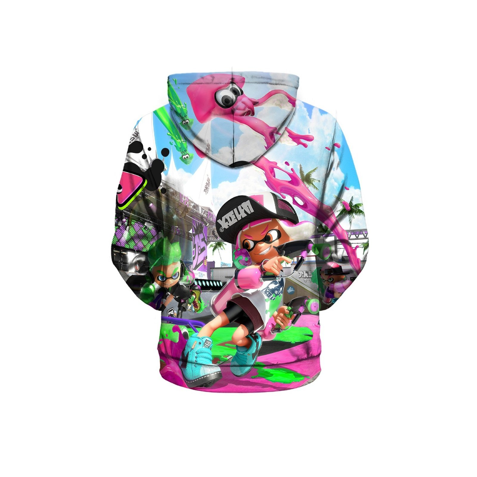 2019 Kids Splatoon 2 Hoodie Sep Series Pullover Sweatshirt