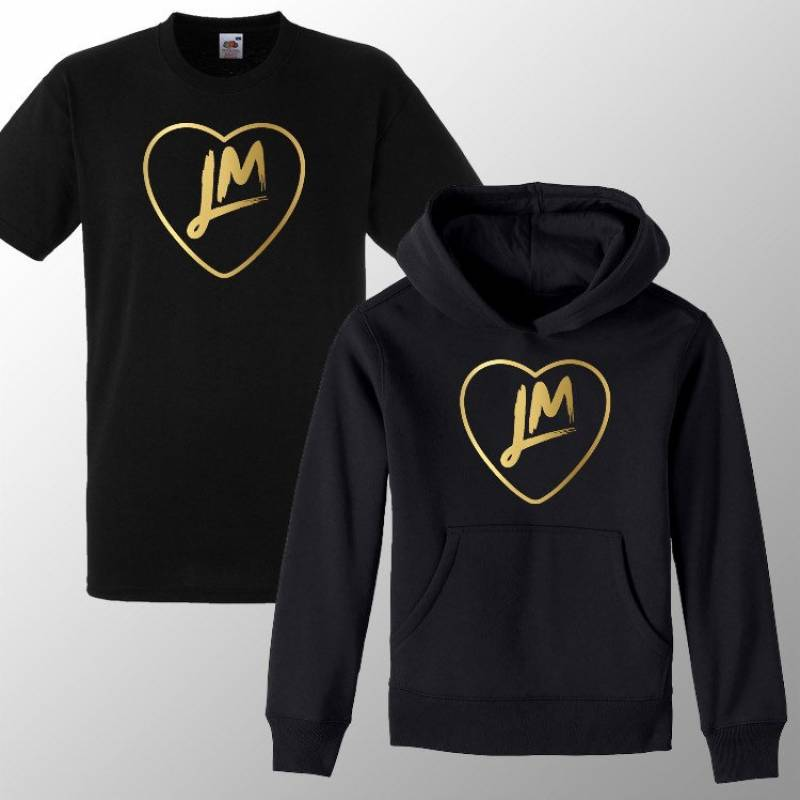 Kids Little - M T-Shirt / Hoody New LM5 Tour 20 Hooded Party Shirt / Hoodie Tee Gift Girls Boys LM love heart Fan made Merch Mix