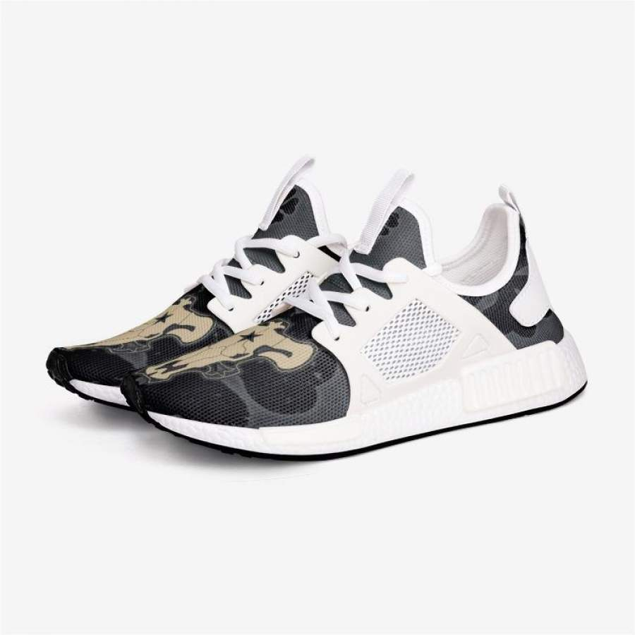 Black CLOVER BULLS Custom Nomad™ Shoes
