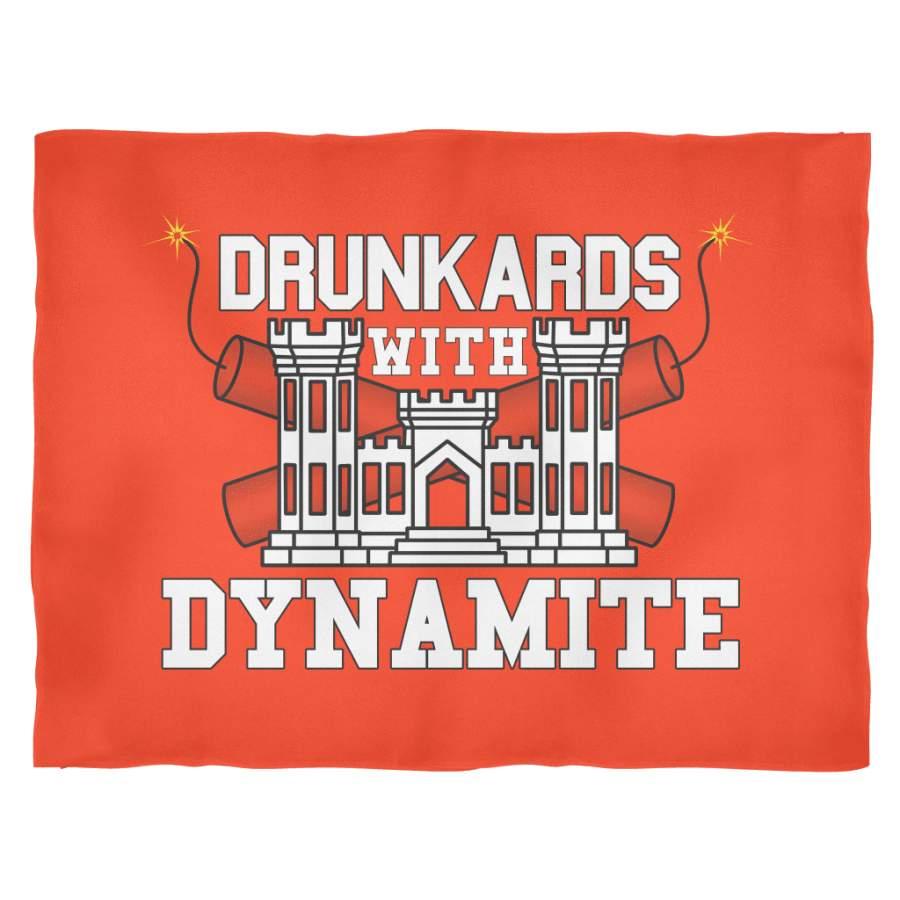 Drunkards With Dynamite Fleece Blanket