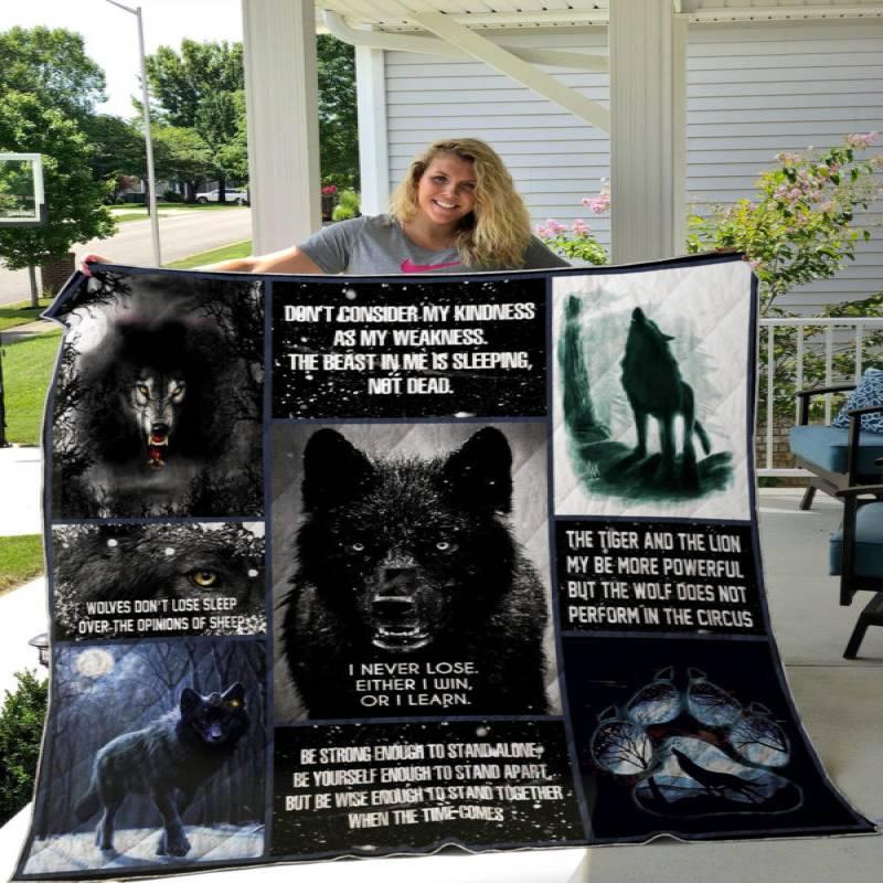 Black Wolf Quilt P366