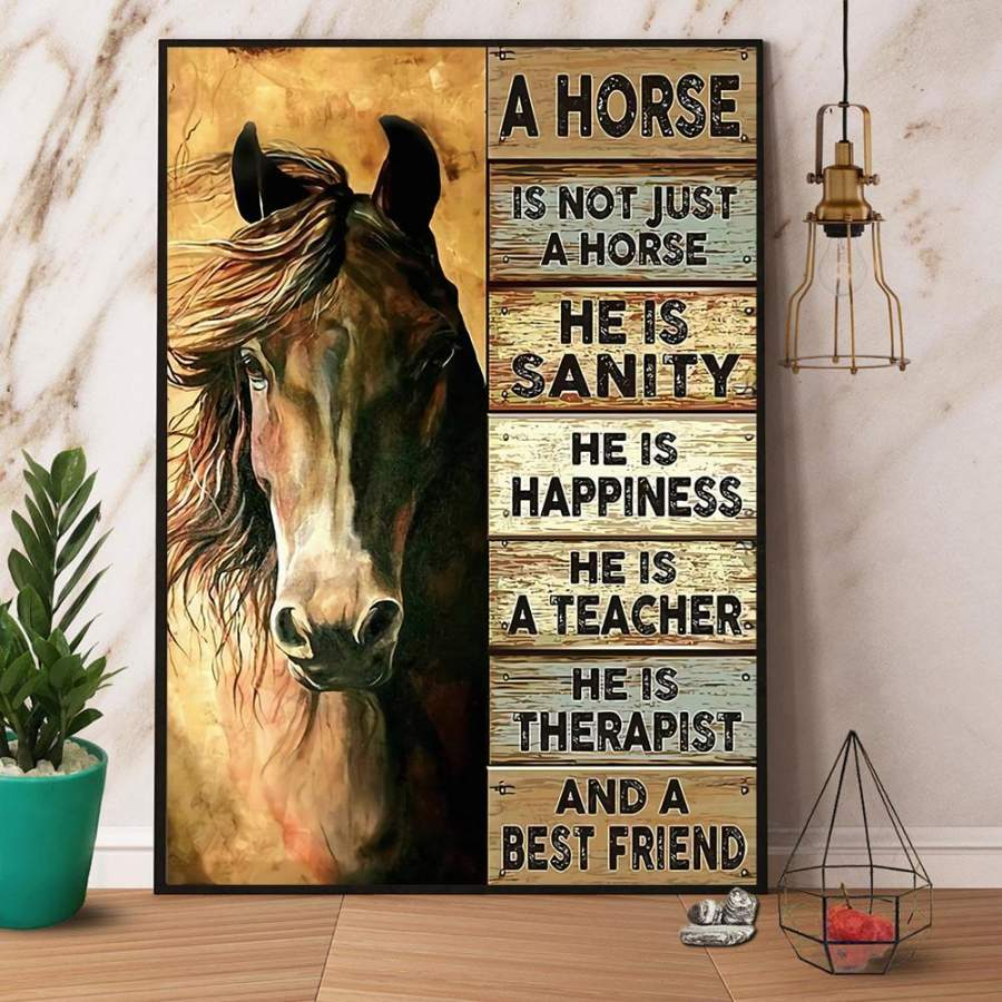 A horse is not just a horse a best friend paper poster no frame/ wrapped canvas wall decor full size