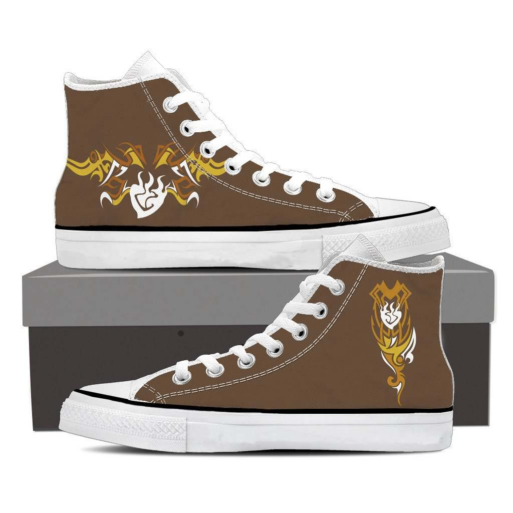 RWBY Yang Xiao Long Symbol High Top Shoes