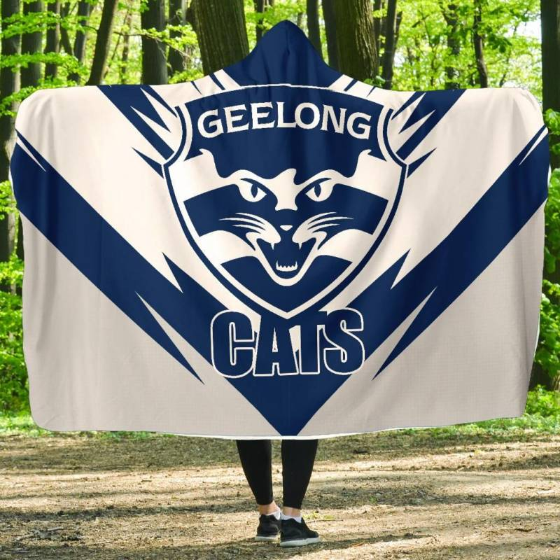 The Geelong Cats Football Club Hooded Blanket A25