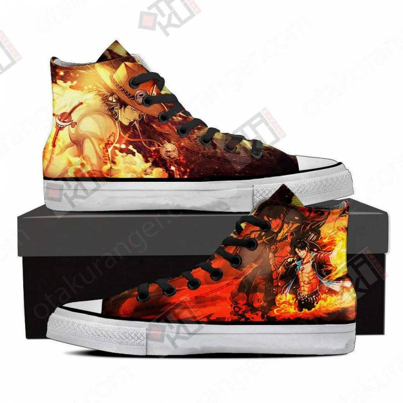 One Piece Portgas D. Ace 3D High Top Shoes