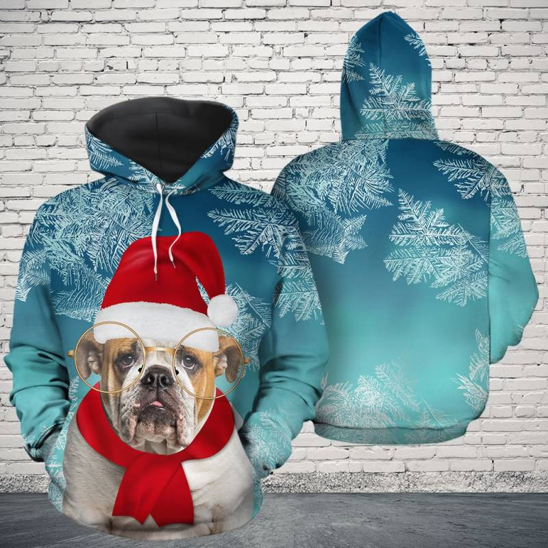 Christmas Bulldog Awesome H16912 - All Over Print Unisex Hoodie