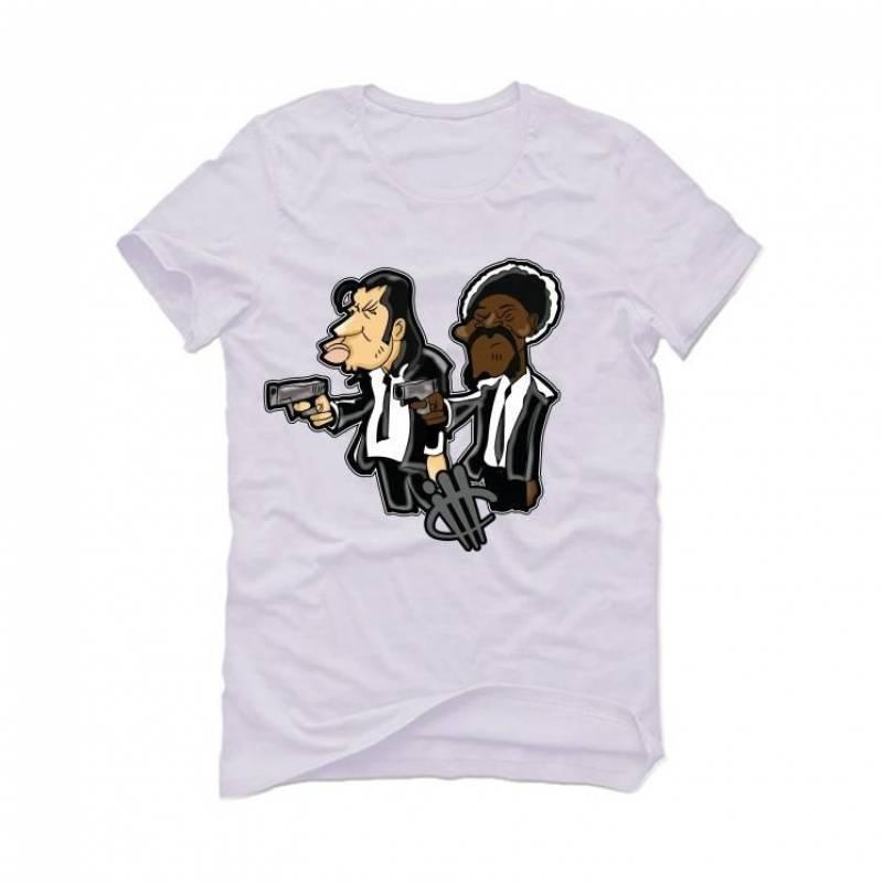 OLIVIA KIM'S AIR JORDAN 4 PONY HAIR White T-Shirt (PULP)