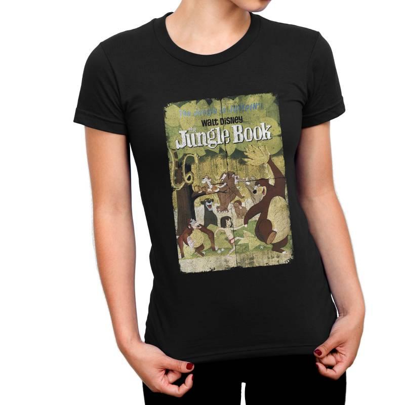The Jungle Book Retro Poster Ladies T-Shirt