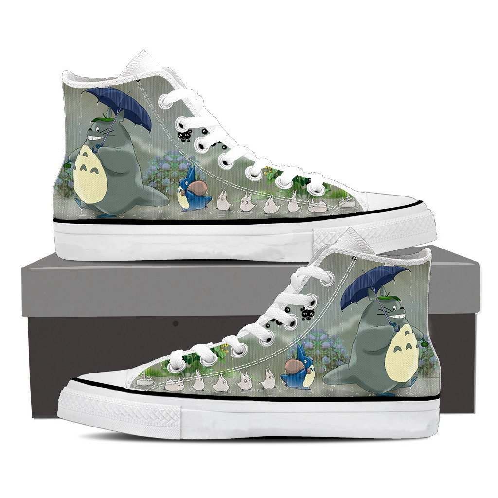 Totoro In the Rain High Top Shoes