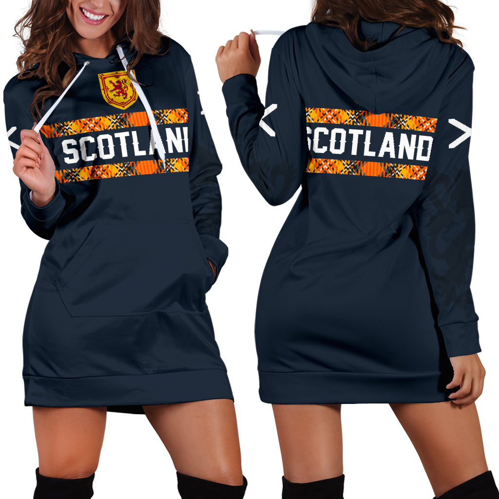 1stScotland Navy Hoodie Dress A7