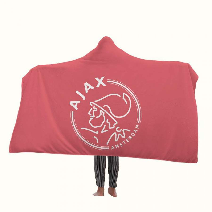 Ajax Amsterdam Logo Hooded Blanket