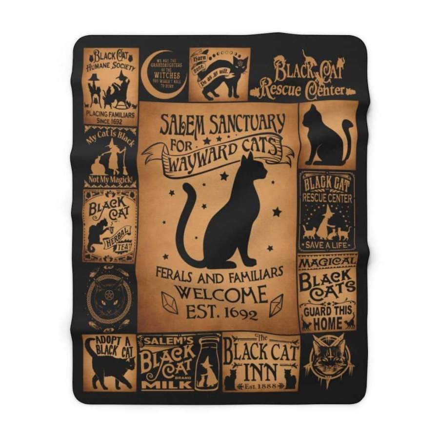 Home For Wayward Cats Blanket