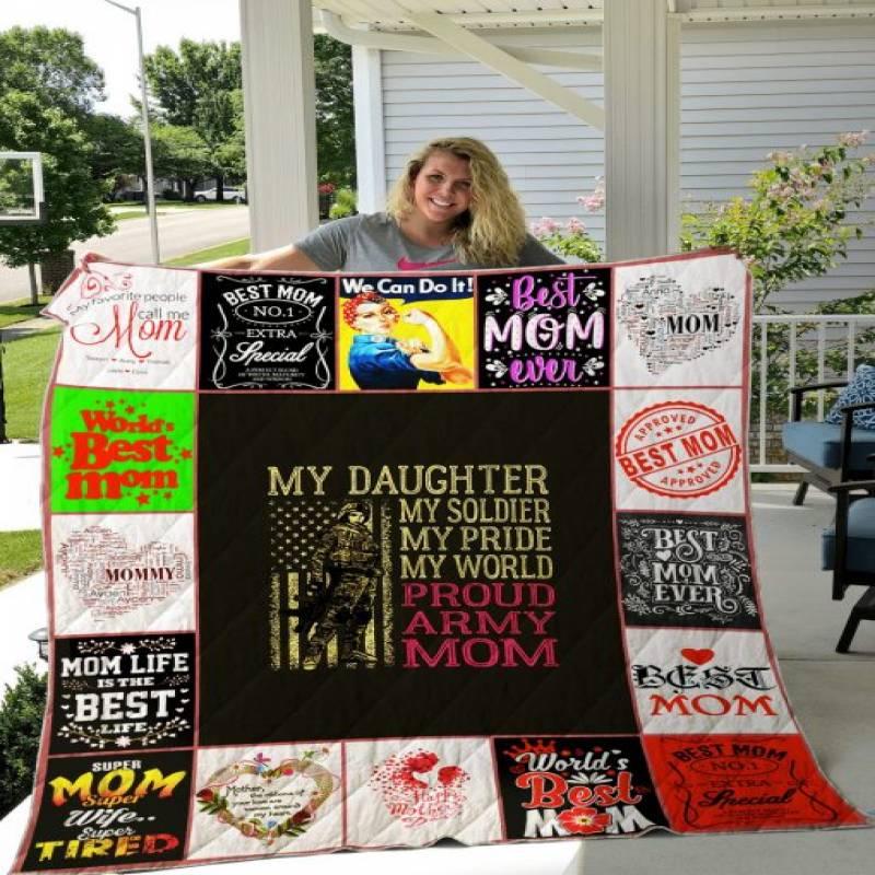 For Mom Quilt Blanket V2