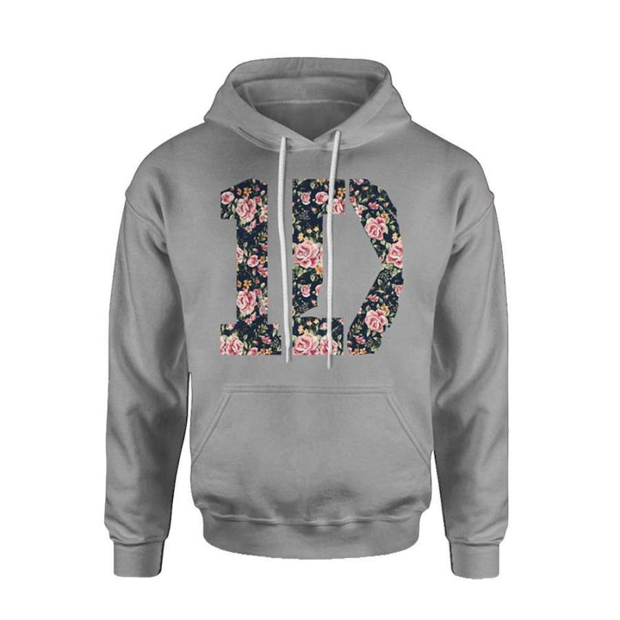 1D One Direction Floral Hoodie