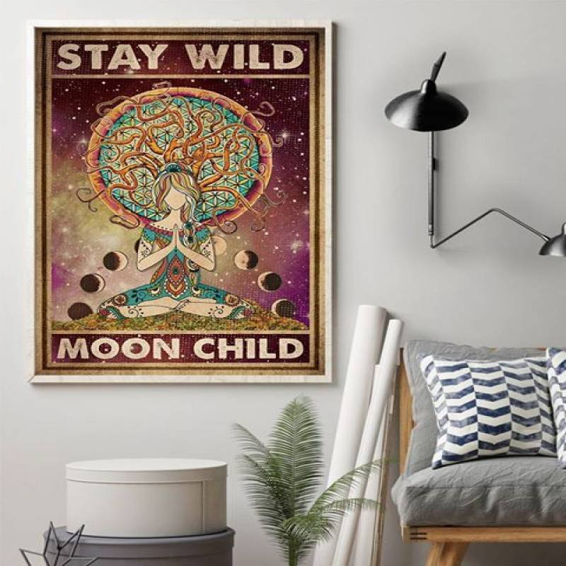 Yoga Stay Wild Moon Child - Unframed Vertical Poster