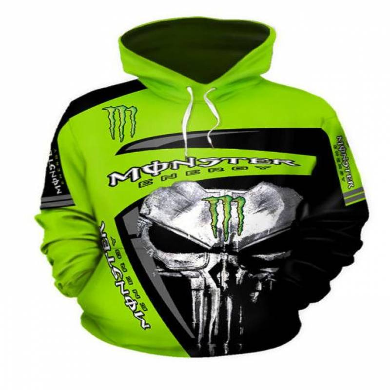 Punisher Skull Monster Energy 3D hoodie – TAGOTEE