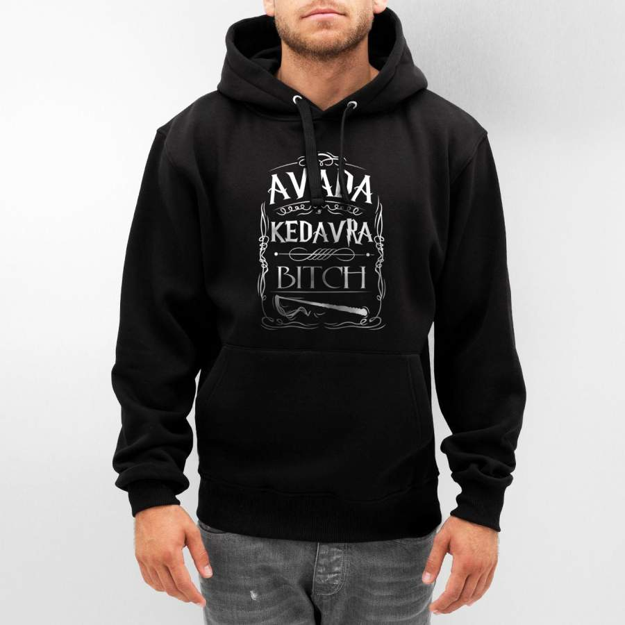 Avada Kedavra B*tch Magic Spell Muggles Wizard Unisex Pullover Hoodie Adult