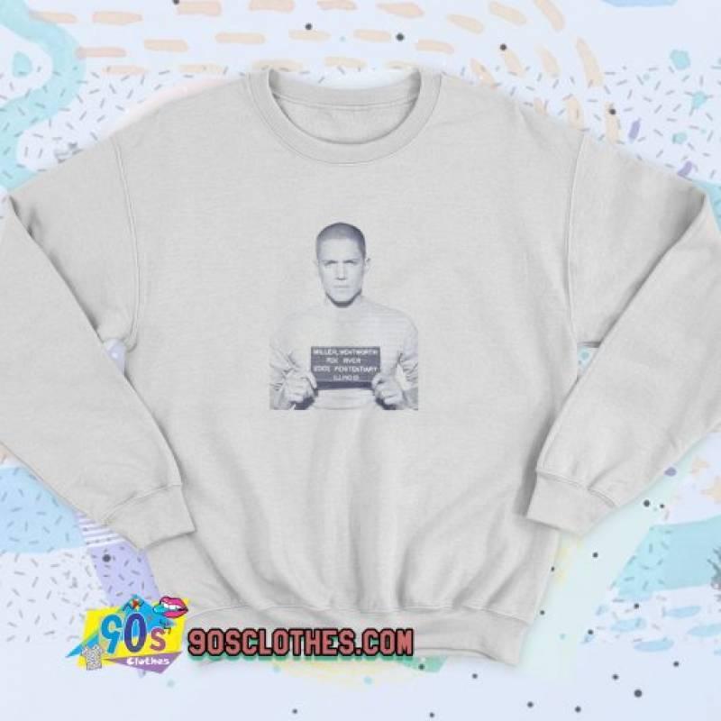 Prison Break Michael Scofield TV Series Mugshot Unisex Sweatshirt