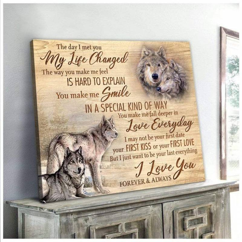The day I met you Wolf poster poster  2932209061