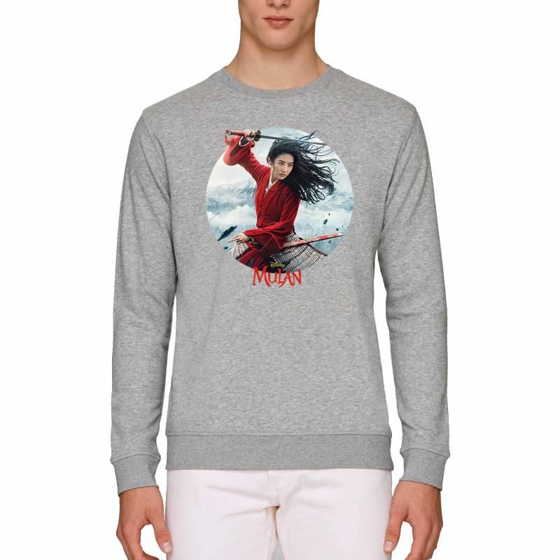 Walt Disney's Mulan Movie Poster Circular Print Adult's Unisex Sweatshirt