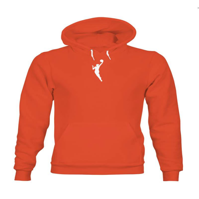 WNBA Gear Fanatics Branded Primary Logo Orange Hoodie