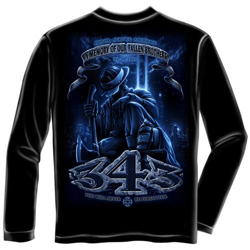 343 Never Forget Mens Long Sleeve T-Shirt