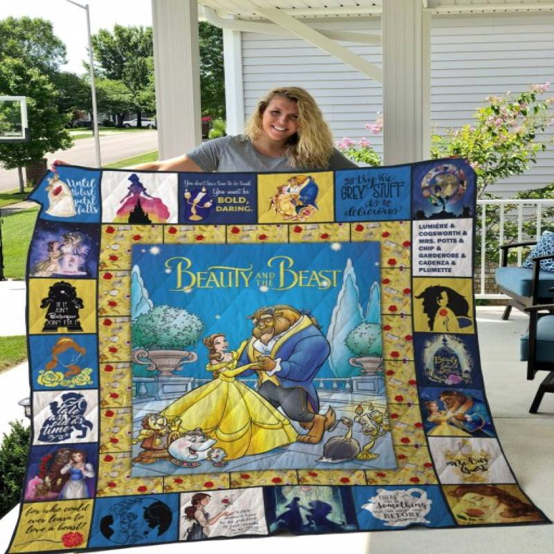Beauty and the beast quilt blanket – Saleoff 230720