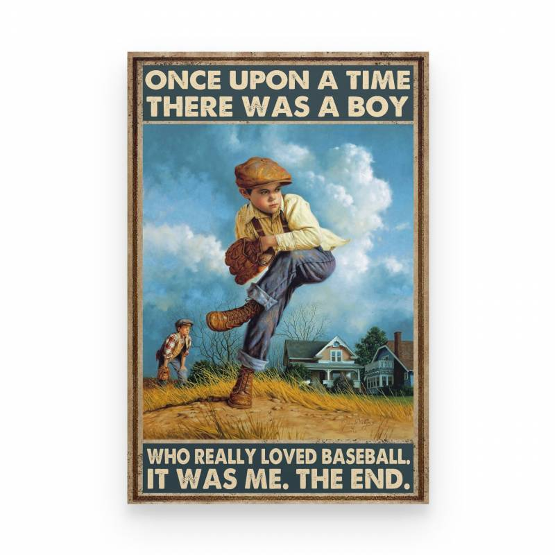 Baseball A Boy Really Loved Baseball - Poster