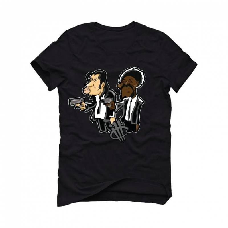 OLIVIA KIM'S AIR JORDAN 4 PONY HAIR Black T-Shirt (PULP)