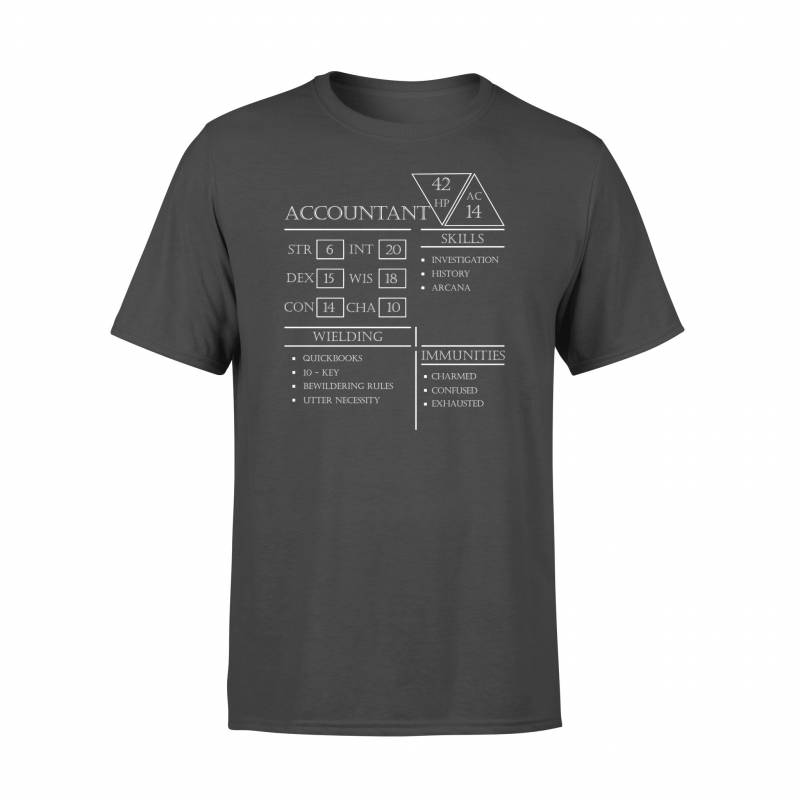 Accountant, D&D_A Accountant Stats- Standard T-shirt