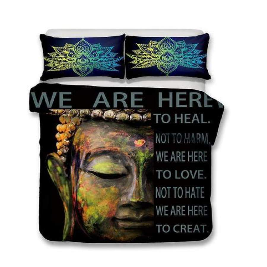 2018-2019 Print Bedding Buddha Theme Bedding Sets Buddhist Culture