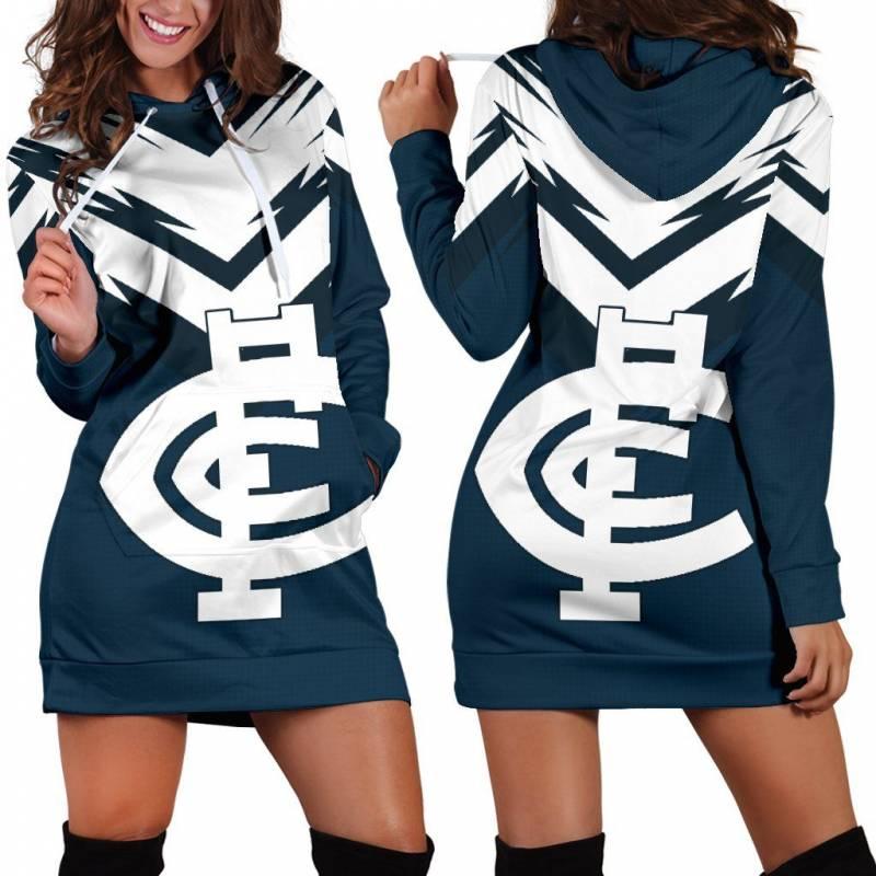 Carlton Football Club Women's Hoodie Dress A15