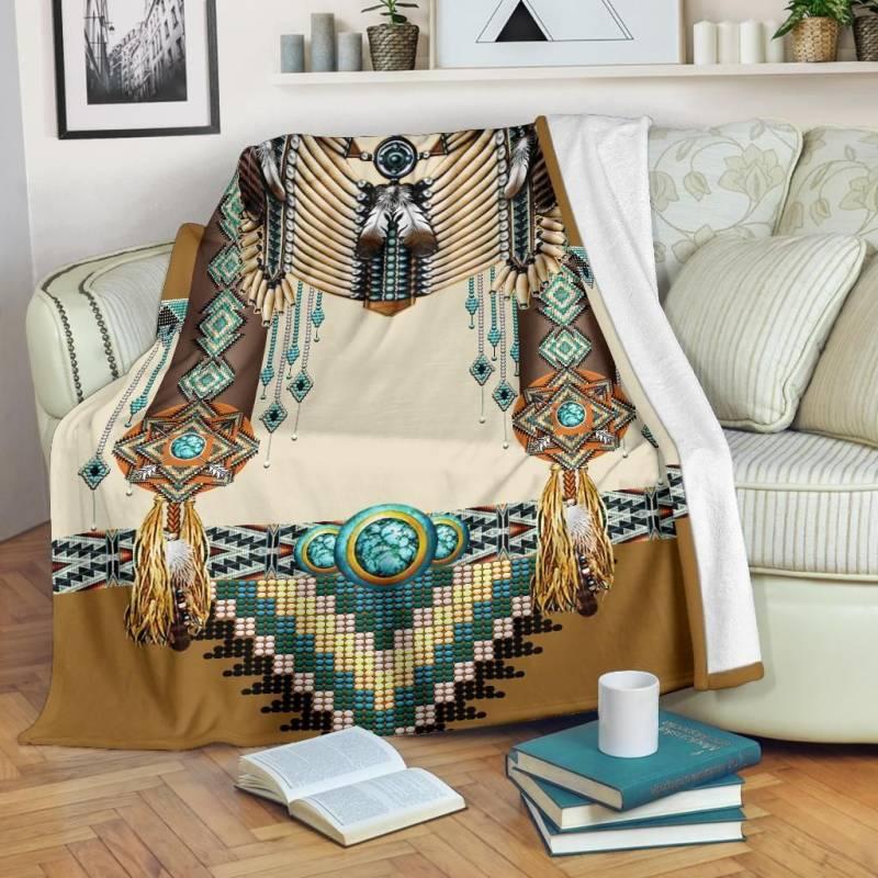 Native American Blanket - Brown Pattern Breastplate - BN01