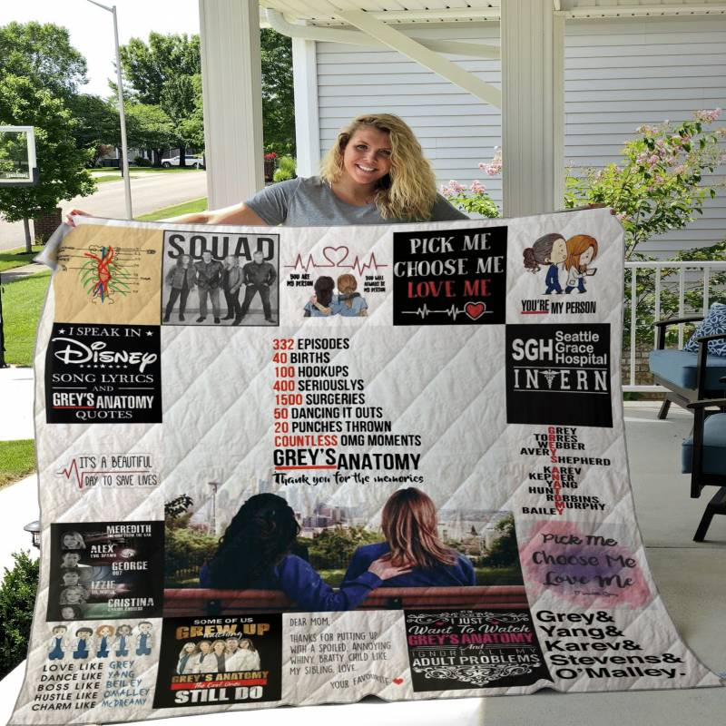 Greys Anatomy Poster Quilt DHC22115876TD