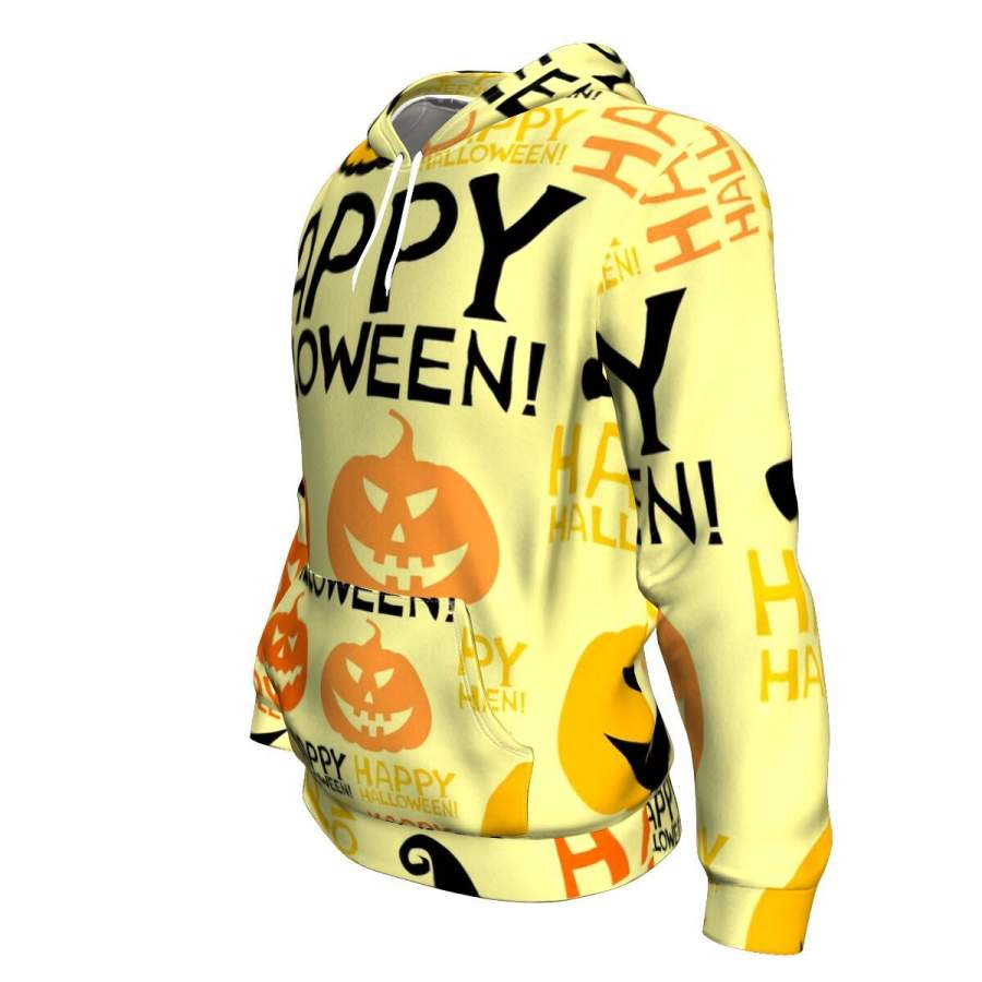 Bats And Pumpkin Funny Ghost With Halloween Hoodie Over
