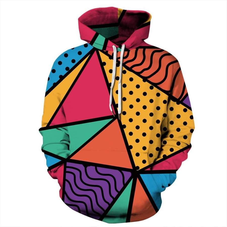 90s Feel 3D Hoodie Unisex Loose Sweatshirt