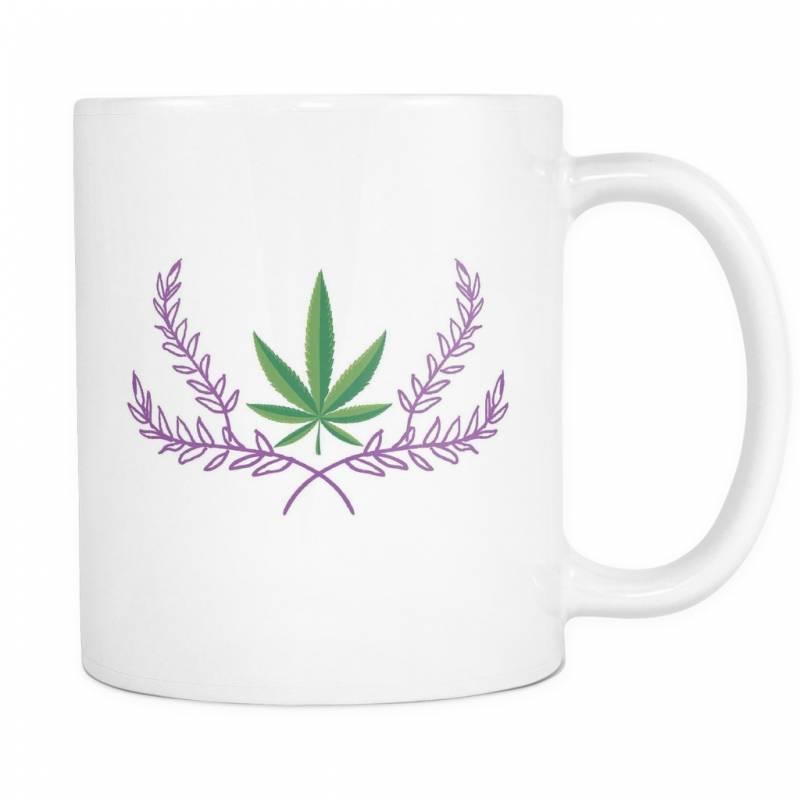 Marijuana Crown – White Mug – Muggalicious