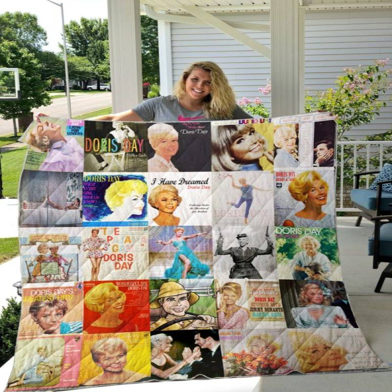 Doris Day Custom Quilt Blanket