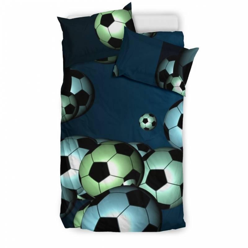 Floating Soccer Balls in the Sky Duvet & Pillow Cover Bedding Set – Muggalicious