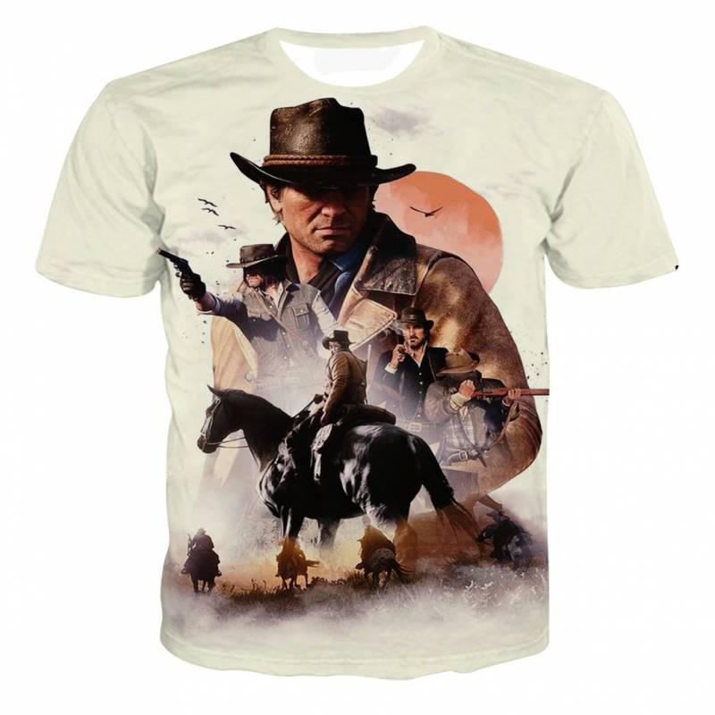Red Dead Redemption 2 Video Game Poster T-shirt