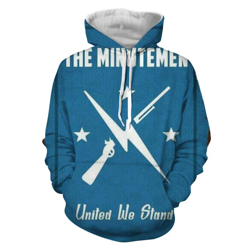 Fallout The Minutemen Poster Retro Design Hoodie