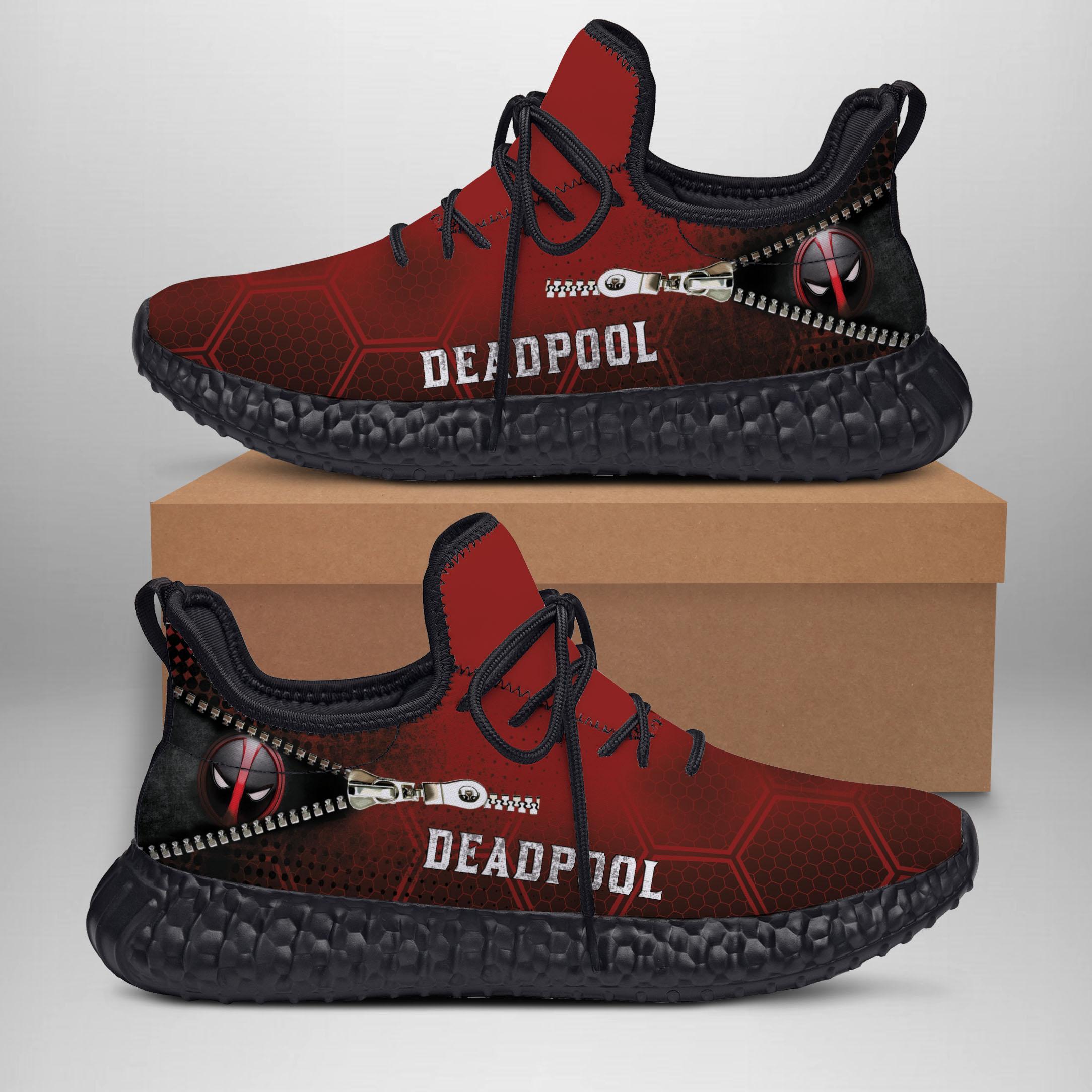 DEADPOOL  Yeezy Sneakers Shoes For Men, Women, Runing Yeezy Sneakers Shoes. Custom Yeezy Sneakers Shoes SNEAKERS