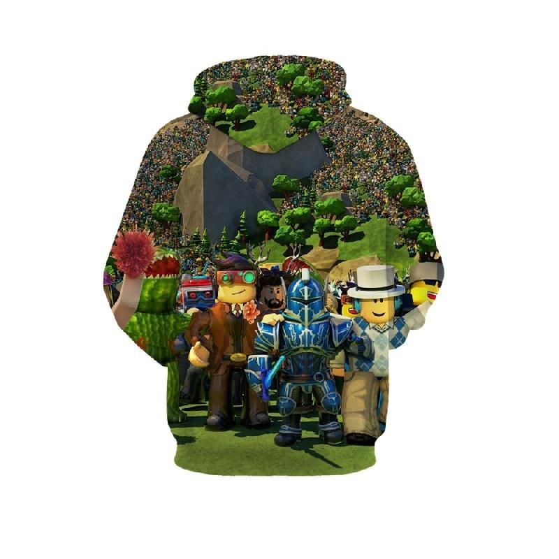 2019 Roblox 3D Hoodie Fever Series Pullover Sweatshirt Forest For Kids